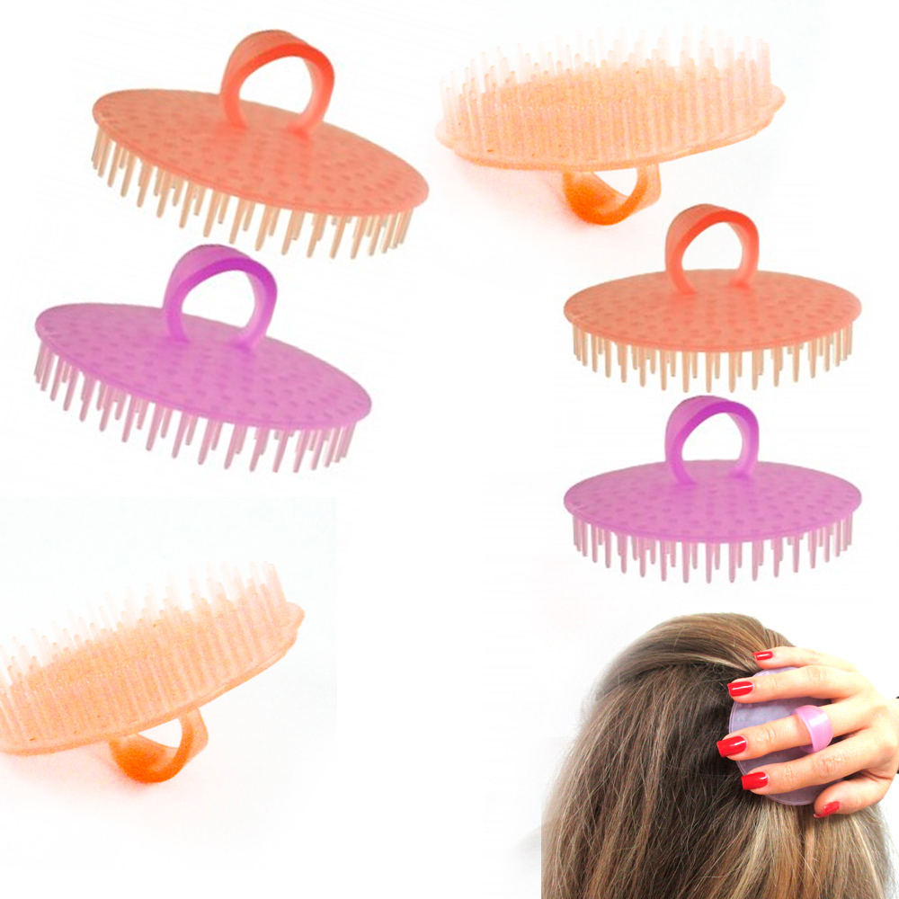 6 Hair Shampoo Scalp Body Massage Brush Comb Conditioner Clean Shower Care Salon