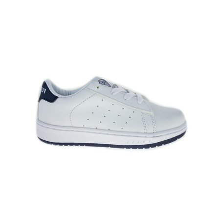 Future Little Boys White Navy Blue Lace-Up Closure Tennis Shoes](Back To The Future 2 Shoes Halloween)