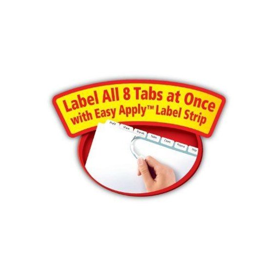 Avery Index Maker Clear Label Dividers 8 Tab 25 Sets 11447