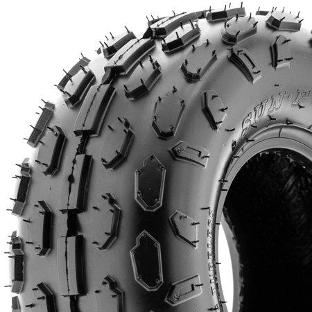 SunF 145/70-6 145 70 6 Sport Knobby Go Kart & ATV Tire 4 PR A015 (Single)