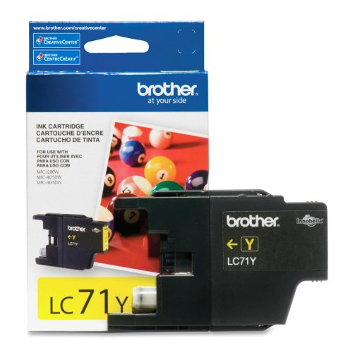 Brother International LC71Y Lc71y Yellow Ink Cartridge For Supl Clr Inkjet Mfcs