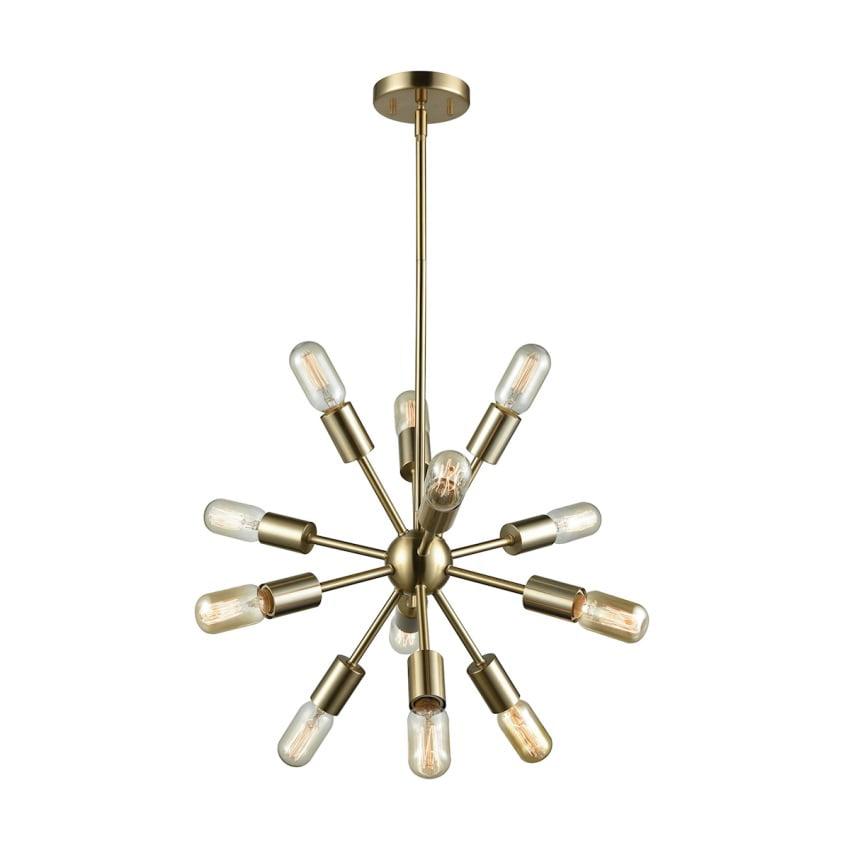 Delphine 12 Light Chandelier In Satin Brass - image 1 of 1