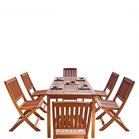 Balthazar Rectangular Table & Folding Chair Outdoor Dining Set
