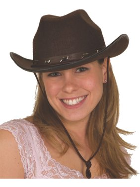 e6b1ece6ab5 Product Image Adult s Studded Brown Felt Cowboy Hat Costume Accessory