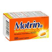 2 Pack - Motrin IB Coated Caplets 200mg (NSAID) 100 Caplets Each
