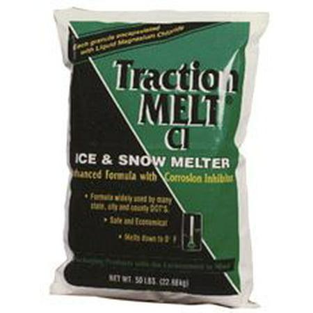 Traction Melt Ci Magnesium Chloride Ice Melt, 50 Lb. (Ice Melt 50 Lb Bag)