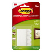 Command Picture Hanging Strips, White, Small, 8 Sets of Strips