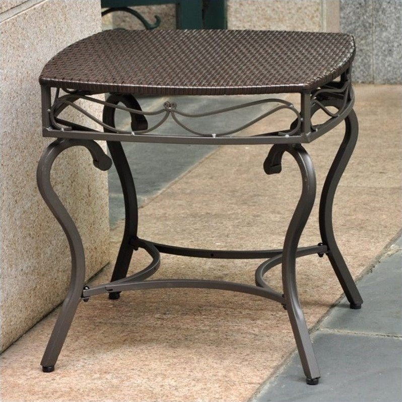 International Caravan Valencia Patio Side Table in Chocolate - image 1 of 1