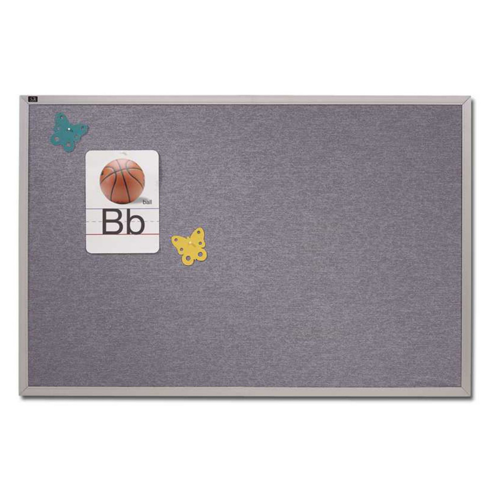 Quartet Vinyl Tack Bulletin Board with Aluminum Frame - 96 x 48 in.