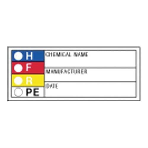 "GRAINGER APPROVED Rectangle HMIG Label 1""H x 3""W, Multicolor, Pk720, 8XZF8"