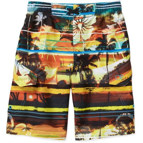 Op Boys' Hibiscus Swim Shorts