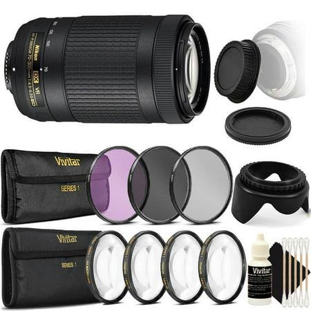 Nikon AF-P DX NIKKOR 70-300mm f/4.5-6.3G ED VR Lens with Accessory Kit For DSLR Cameras