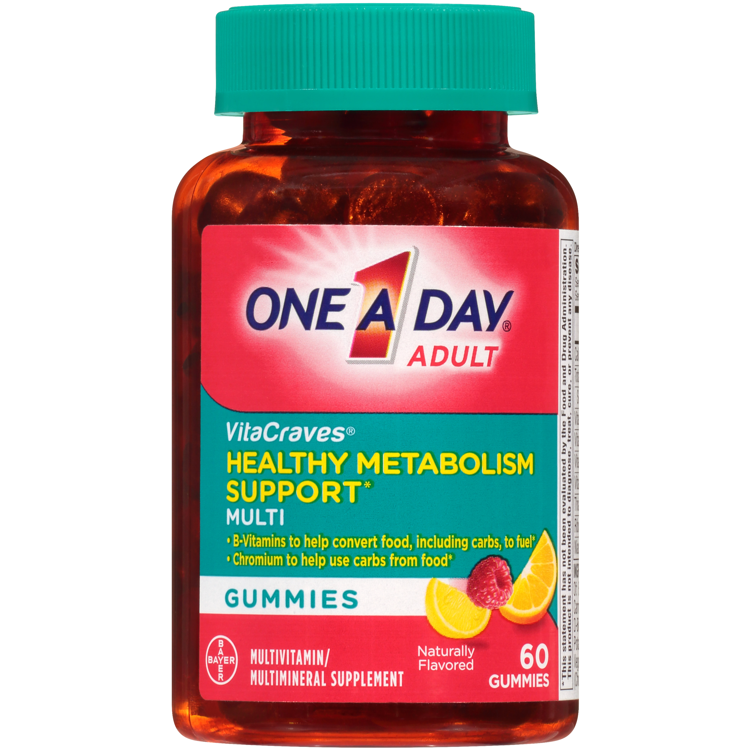 One A Day VitaCraves Multivitamin Gummies with Healthy Metabolism Support* , Supplement with Vitamins A, C, E, and B-Vitamins, 60 Count