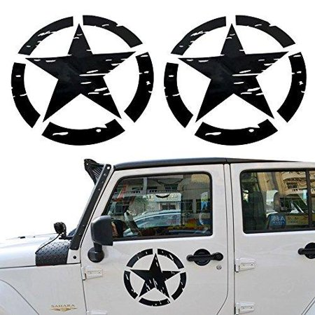 - Opar US Army Military Star Car Sticker Decal for Car / Truck / Ford F150 / Jeep Wrangler - 2PCS