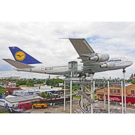 LAMINATED POSTER Lufthansa Jumbo Jet Passenger Machine Boeing 747 Poster Print 24 x 36 ()