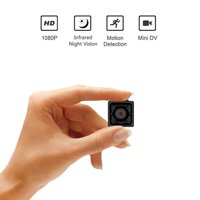 Juslike Mini Camera, HD 1080P Portable Small Camera with Night Vision and Motion Detective, Perfect Indoor Security Camera for Home, Car, Drone, Office and Outdoor Use