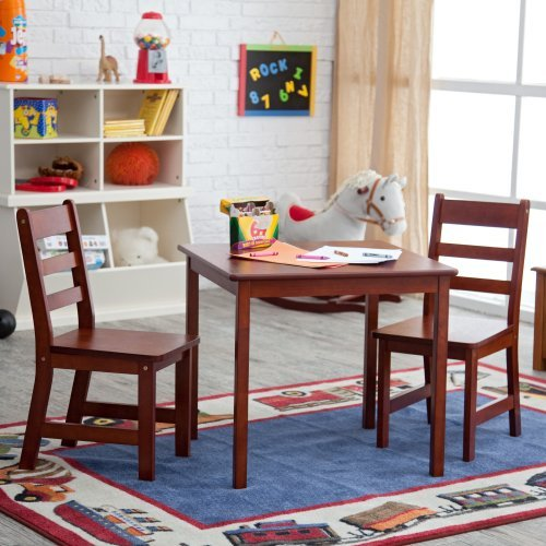 Lipper 514C Square Table and 2 Chairs Set-Cherry