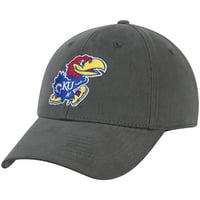 Kansas Jayhawks Team Basic Adjustable Hat - Charcoal - OSFA