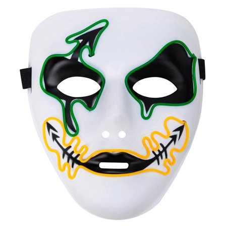 Halloween Party Masquerade Unique Glowing Horror Mask with a - Glowing Halloween Name Color