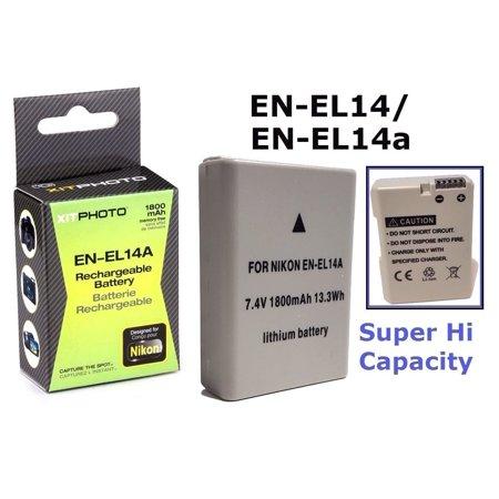 Hi Capacity EN-EL14a Li-Ion Battery for Nikon Coolpix P7800 P7000 P7700