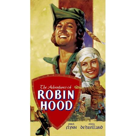 The Adventures Of Robin Hood Errol Flynn Olivia De Havilland 1938 Movie Poster