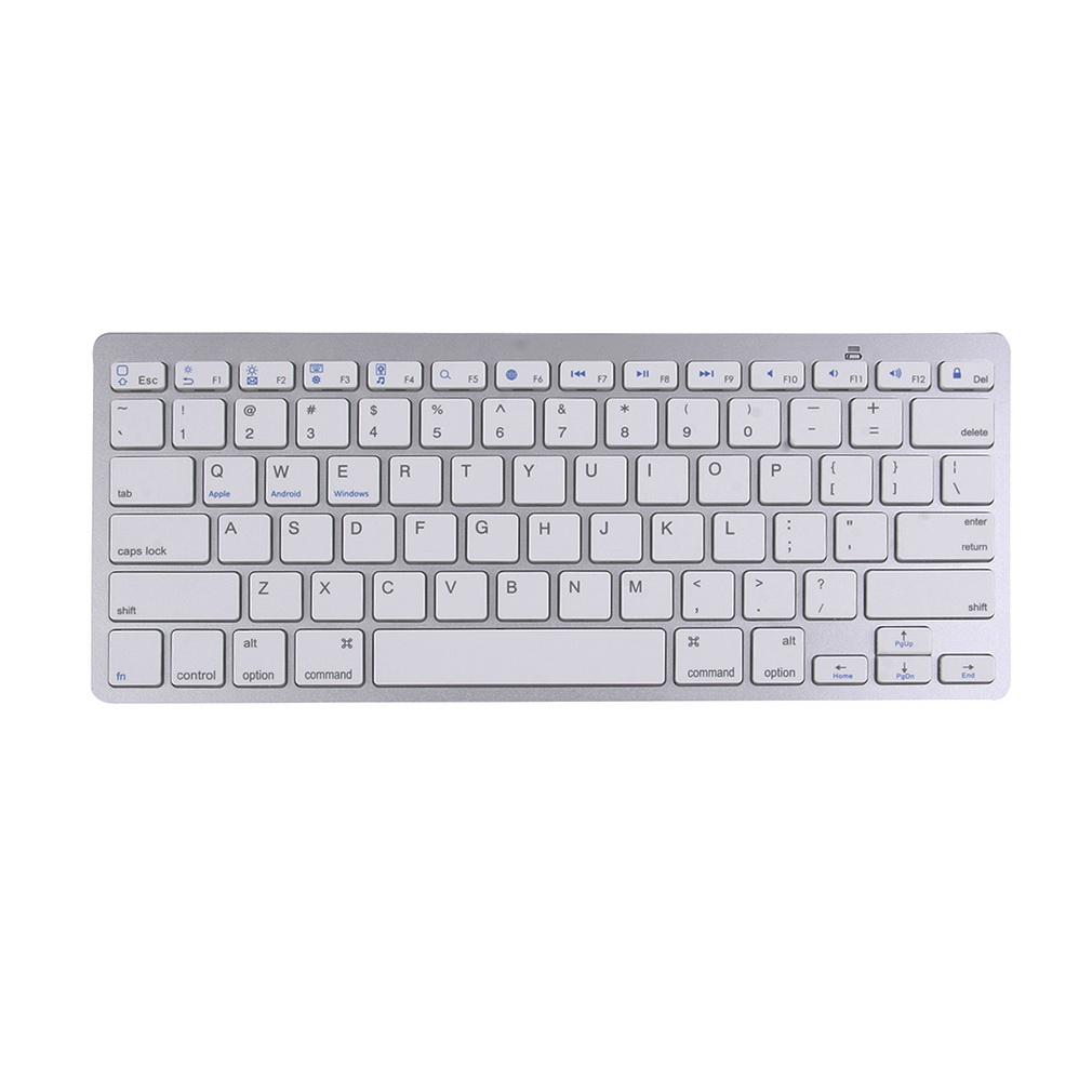 Ultra-Slim Mini Silver Wireless Bluetooth Keyboard For Android for Windows for iOS System Standard English Version Keyboard