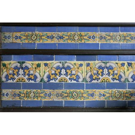 Spanish Tile in the Courtyard Balcony of Casa de Aliaga, Lima, Peru Print Wall Art By Mallorie Ostrowitz - Decorar Casa De Halloween