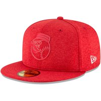 057935db7d2 Cincinnati Reds New Era 2018 Clubhouse Collection 59FIFTY Fitted Hat -  Heather Red