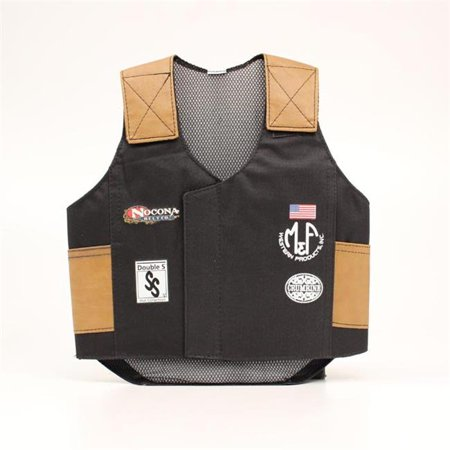 Bull Costume For Kids (Big Time Rodeo 5056401-S Youth Costume Bull Rider Vest, Black -)