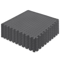 Best Choice Products 96 Sq. ft. Puzzle Exercise Mat, 24-Piece 2X2Ft EVA Foam Interlocking Tiles, 3/8In Thick - Black
