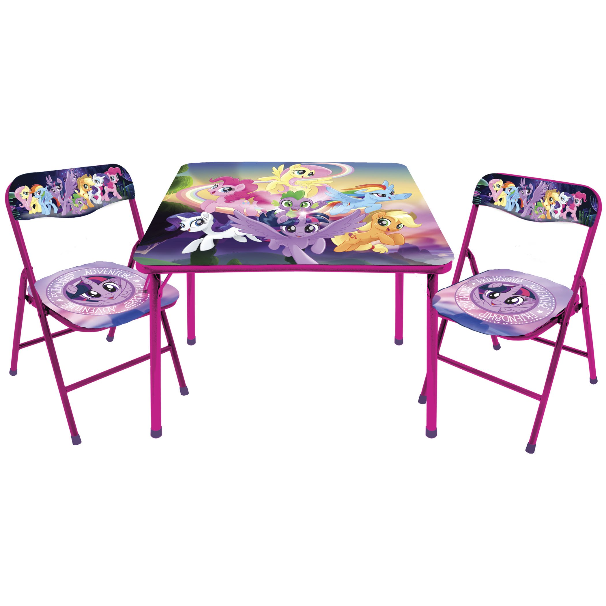 My Little Pony Movie 3 PC Folding Kids Table And Chair Set