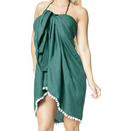 301a763647 LA LEELA - Sarong Wrap Beachwear Bathing Suit Swimwear Swimsuit Cover ups  Pareo Skirt Women - Walmart.com