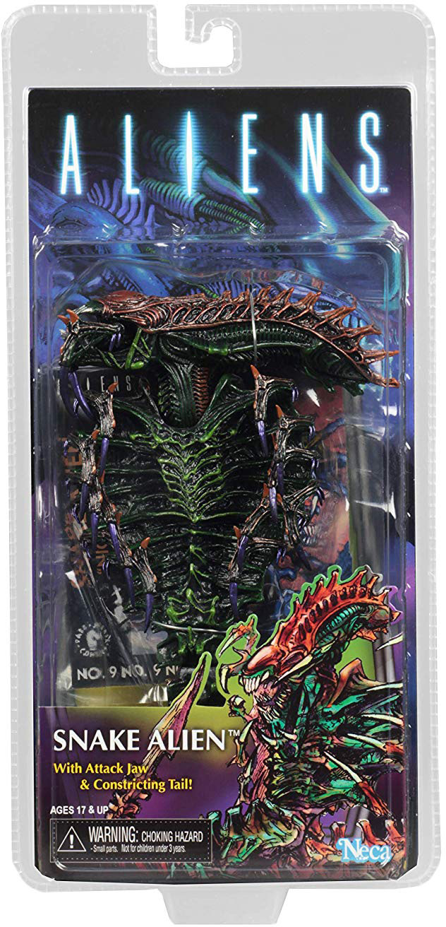 """NECA Snake Alien 7/"""" Action Figure Aliens Movie Series 13 w Attack Jaw Tail New"""