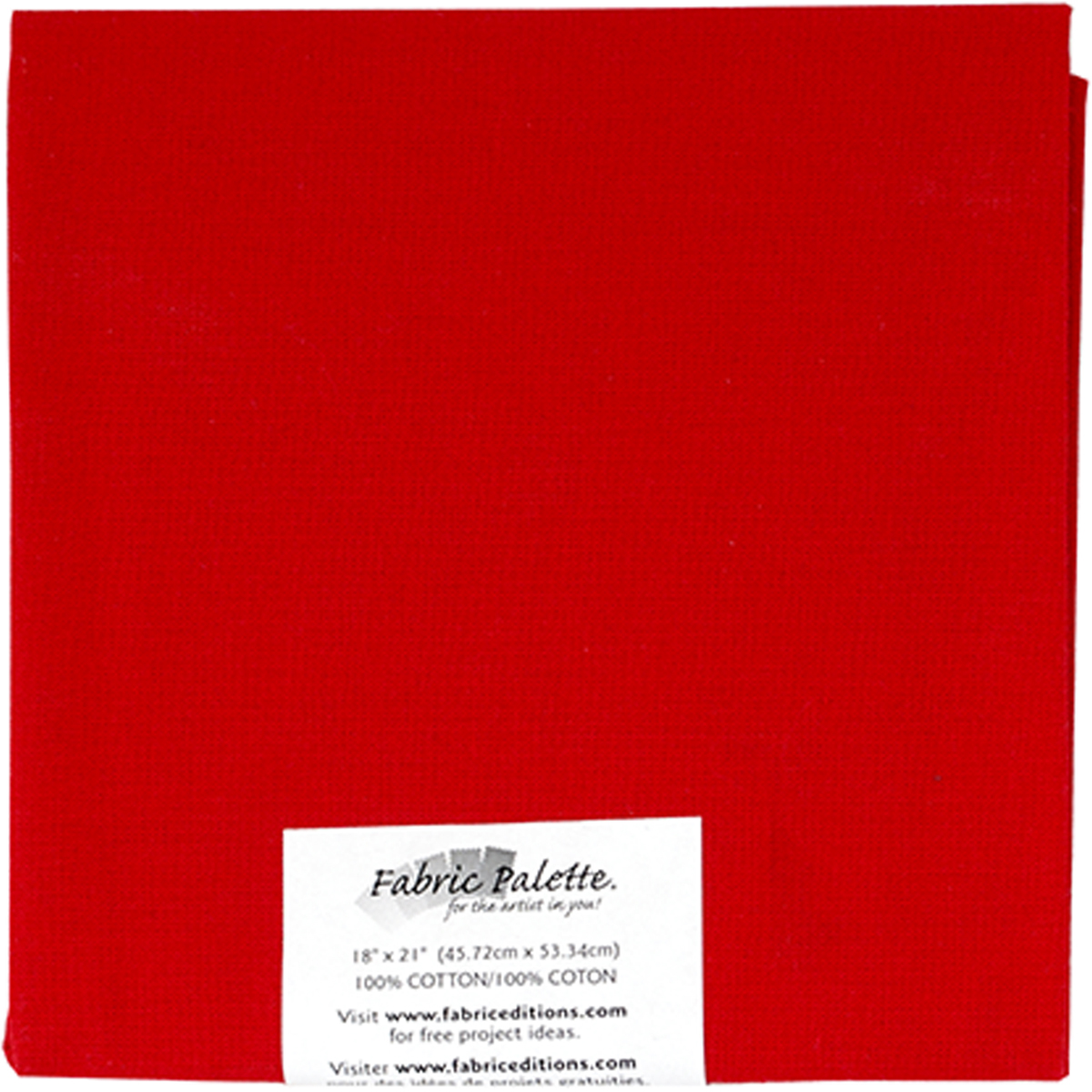 "Fabric Palette Precut 18""X21"" 1/Pkg-Red"