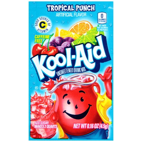 Kool-Aid Tropical Punch Unsweetened Drink Mix, 0.16 oz