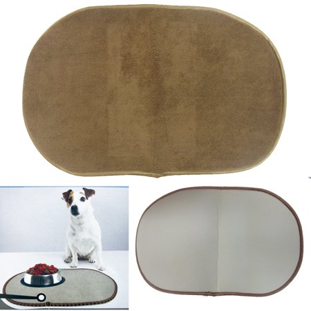 Large Microfiber Pet Bowl Mat Machine Washable Cushions