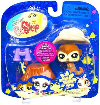 Littlest Pet Shop 2009 Assortment A Series 2 Meerkat Figure [Tree Trunk]