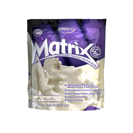 Syntrax Matrix Whey Protein Powder, Vanilla, 23g Protein, 5 - Syntrax Vanilla Vitamins