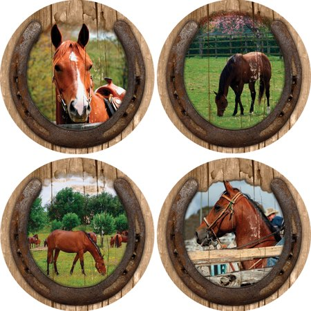 Thirstystone Drink Coasters Series, Quarter Horses