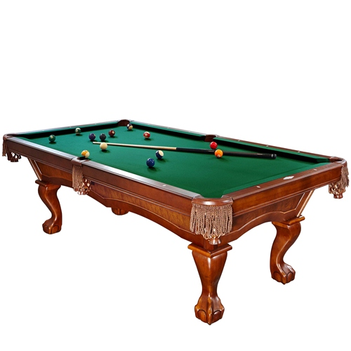 Brunswick Danbury 8 Foot Pool Table with Green Contender Cloth and Play Kit by