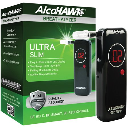 Alcohawk Slim Breathalyzer (AlcoHAWK AH2800S Ultra Slim Breathalyzer)