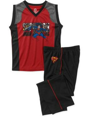 DC Comic Boys' 2 Piece Basketball Mesh Top and Pant Set