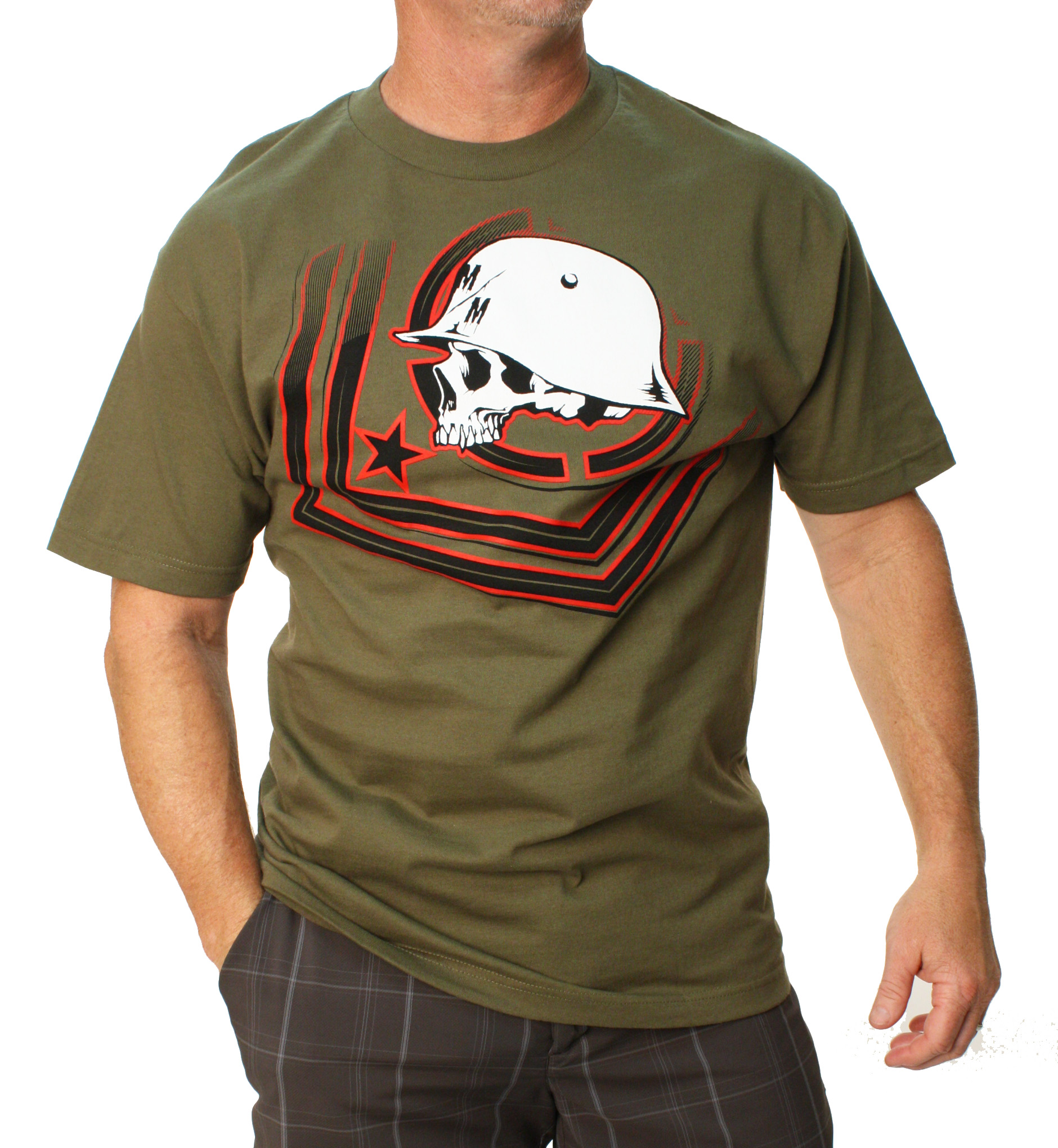 Metal Mulisha Men's Check Point Graphic T-Shirt