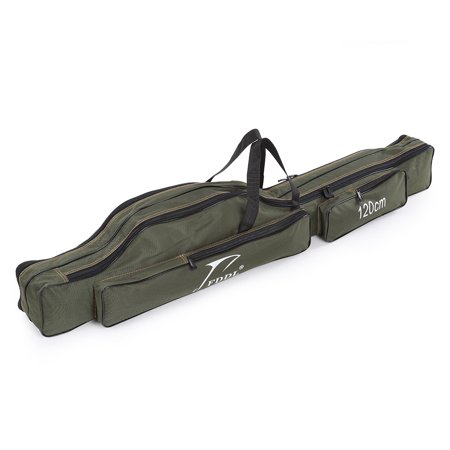 Portable Folding Fishing Rod Carrier Canvas Fishing Pole Tools Storage Bag Case Fishing Gear (Rod Carrier)