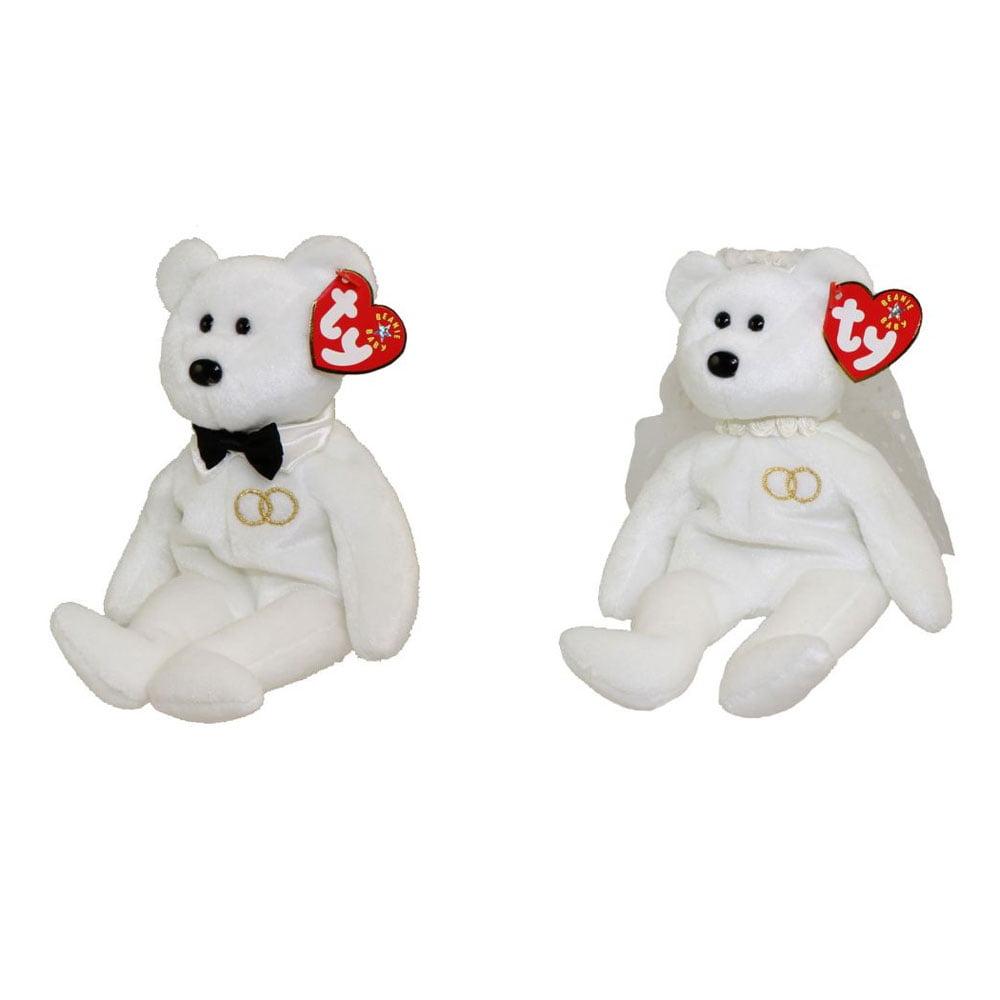 52f6d7dc9ee TY Beanie Babies - SET OF 2 MR. and MRS. Bears (Groom   Bride)(8.5 inch) -  Walmart.com