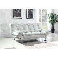 Dilleston Contemporary White Sofa/Couch Bed
