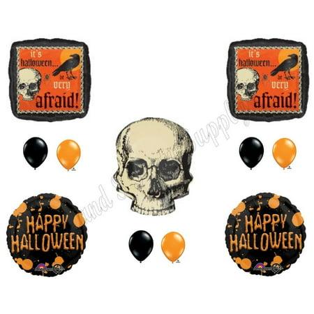 HALLOWEEN CREEPY SKULL Party Balloons Decoration Supplies Trick Or Treat - Creepy Halloween Party Food Ideas