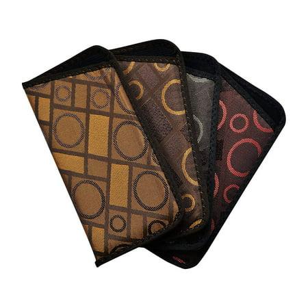 4 Pack Soft Slip In Eyeglass Case For Women & Men, Glasses Slip Case, (Geometric Glasses Case)