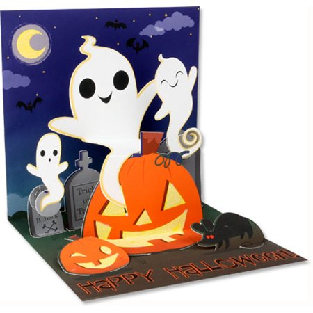 Up With Paper Silly Ghosts Pop-Up Halloween Card - Halloween Pop Up Cards To Make