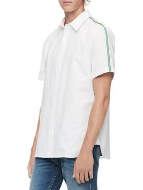 Calvin Klein Mens Racing Stripes Button Up Shirt